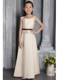 Champagne Bridesmaid Dresses Junior Girls 2676