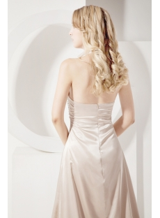 Champagne Halter Sexy Prom Dress 2013 with Train