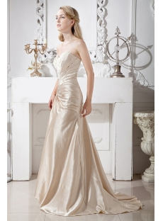 Champagne Mother of Groom Gown with Long Sleeves Jacket