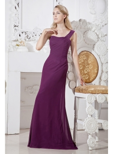 Charming Sheath Mother of Groom Dress with One Shoulder