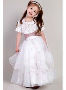 Cheap Girl Party Dress with Jacket for Winter 2193