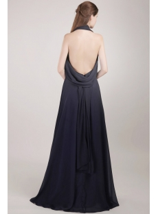 Cheap Long Black Backless Evening Dress for Summer