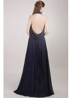 Cheap Long Black Backless Evening Dress for Summer