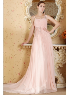 Cheap Romantic Dusty Rose Evening Dress for Plus Size