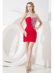 Chic Little Red Cocktail Dress