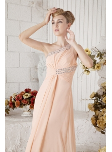 Chiffon One Shoulder Vintage Evening Dress