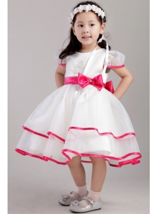 Colorful Flower Girl Dresses with Cap Sleeves 2400