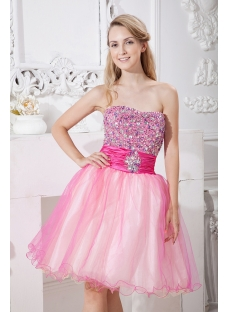 Colorful Sweet Graduation Dress Short