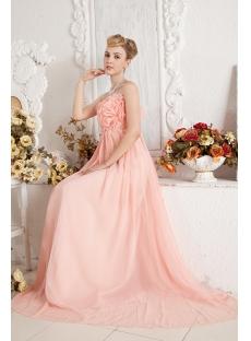 Coral Romantic Empire Prom Dress for Maternity