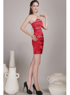 Corset Red Short Homecoming Dress