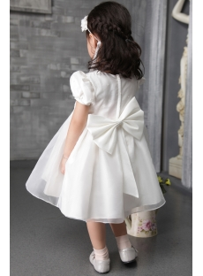Cute Baby Doll Flower Girl Gown with Cap Sleeves 2508