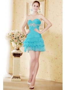 Cute Teal Mini Sweet 16 Dress Cheap