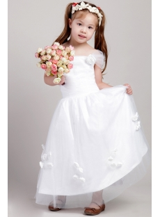 Discount Flower Girl Dresses with Cap Sleeves 2128