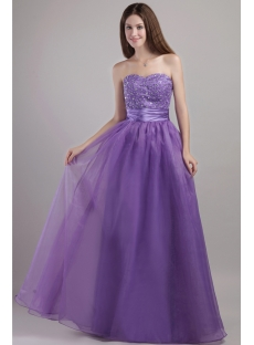 Discount Purple Sweetheart Pretty Quinceanera Gown 2045