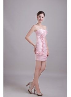 Dusty Rose Mini Cocktail Dress with Floral 1250