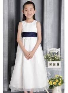 Elegant Cheap Flower Girl Dress with Bow 2655