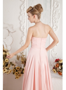 Elegant Coral Prom Gown for Large Size