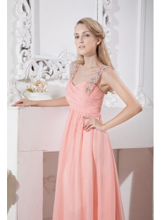 Elegant Straps Maternity Prom Gown for Plus Size