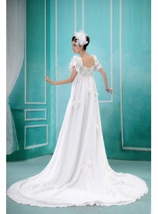 Modest Empire Chiffon Maternity Wedding Dress