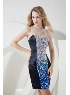 Fantastic Colorful Evening Dress with Mini Length