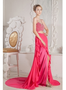Fuchsia Sexy Prom Dresses 2013 with Train for Summer