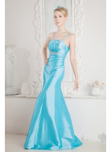 Glamorous Blue Sheath 2013 Prom Dress