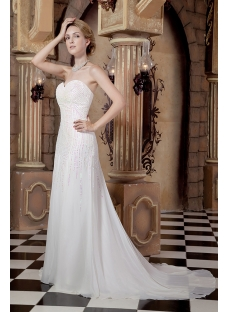 Gorgeous Chiffon Column Princess Bridal Gown Spring