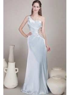 Gorgeous Light Blue Sexy Evening Dress Satin