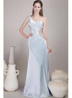 Gorgeous Light Blue Sexy Evening Dress Satin