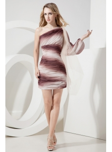 Gradient Cocktail Dress with Long Sleeve
