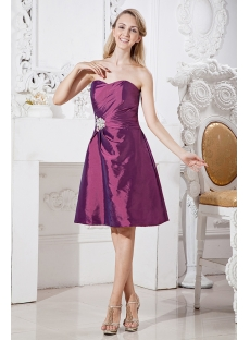 Grape Cheap Graduation Dresses for Juniors