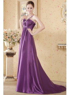 Grape Plus Size Homecoming Dress with One Shoulder
