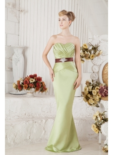 Green Elegant Bridesmaid Dress Modest