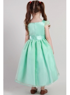 Green Inexpensive Flower Girl Gown 2386