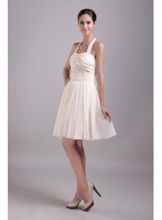 Halter Chiffon Lovely Graduation Dresses 1416