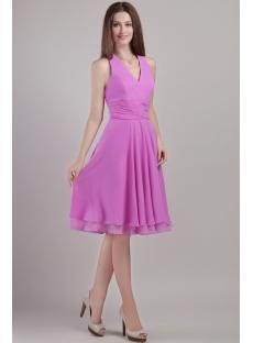 Halter Short Lilac Juniors Homecoming Dresses 2258