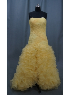 High Low Strapless Short Mini Long Floor-Length Satin Organza Prom Dress 05087