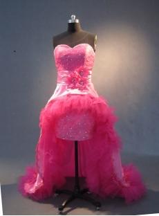 Hot Pink Floor-Length Taffeta Prom Dress 1780