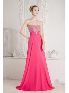Hot Pink Princess Prom Dress 2013