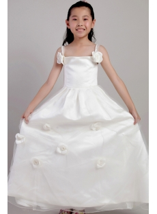 Ivory Beach Wedding Flower Girl Dresses 2059