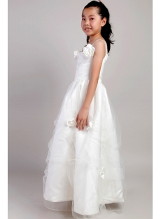 Ivory Beach Wedding Flower Girl Dresses 2059:1st-dress.com