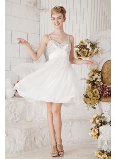 Ivory Beaded Short Unique Party Dresses