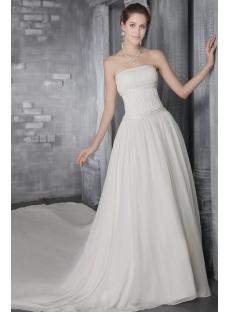 Ivory Chiffon Casual Wedding Dresses for Fall 2758