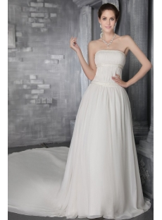 Ivory Chiffon Casual Wedding Dresses For Fall 2758 1st