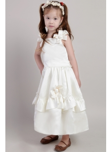 Ivory Cute Cheap Girl Party Dress 2098
