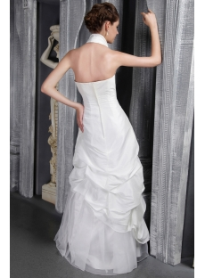 Ivory Halter Wedding Gown Petite 2469