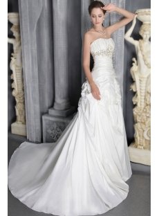 Ivory Long Outdoor Wedding Dresses 2012 Long 2795