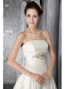 Ivory Mature Classy Bridal Gowns 2877
