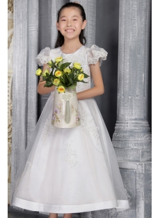 Ivory Mini Bridal Gowns for Little Girl 2517