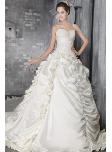 Ivory Spaghetti Straps Gothic Bridal Gowns 2749